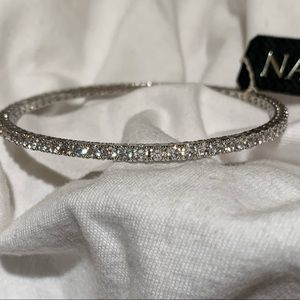 Nadri Silver Swarovski Crystals Bracelet